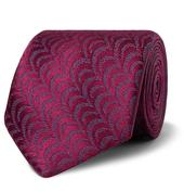 7.5cm Silk-Jacquard Tie in Purple
