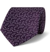 7.5cm Paisley Silk-Jacquard Tie in Purple