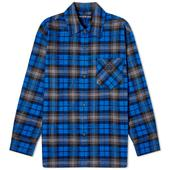 Acne Studios Salak Flannel Face Shirt in Blue