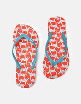 Flip Flops in Red and Blue