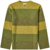 JW Anderson Striped Crew Knit in Green