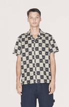 Malick Shirt (Navy/Ecru) in Neutral and Navy
