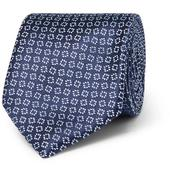 7.5cm Silk-Jacquard Tie in Navy
