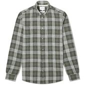 Norse Projects Hans 50/50 Check Shirt in Green