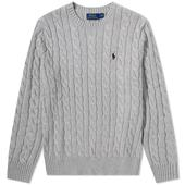 Polo Ralph Lauren Cable Crew Knit in Grey