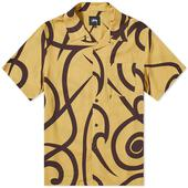 Stussy Tribal Pattern Shirt in Yellow