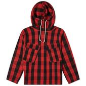 orSlow US Navy Salvage Hooded Parka in Red and Black