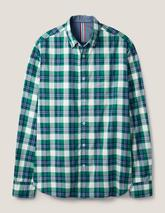 Casual Check Shirt in Green and Grey