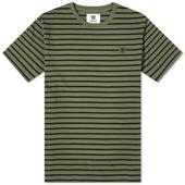 Wood Wood Ace Striped Tee in Green