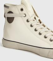 Osun High Top Leather Trainers in Neutral
