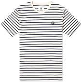 Wood Wood Ace Striped Tee in White and Navy
