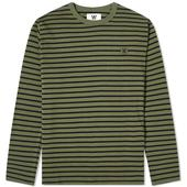 Wood Wood Long Sleeve Mel Tee in Green and Black