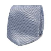 Light Blue Textured Slim Tie in Blue