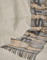 BELSTAFF SIGNATURE CHECK SCARF in Neutral and Grey