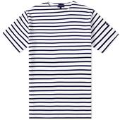 Armor-Lux 1524 Doélan Tee in White and Navy