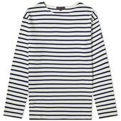 Armor-Lux Long Sleeve Loctudy Tee in Neutral and Navy