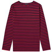 Armor-Lux Long Sleeve Loctudy Tee in Red and Navy