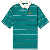 Kenzo Tiger Crest Stripe Polo in Green