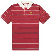 Kenzo Tiger Crest Stripe Polo in Red