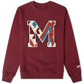 Maharishi Navajo M Crew Sweat in Red