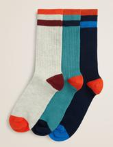 Chunky Weekend Socks in Green, Neutral and Navy