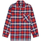 Acne Studios Salak Flannel Face Shirt in Red and Blue