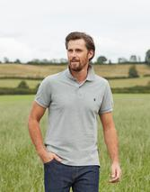 Woody Classic Fit Polo Shirt in Grey