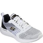 Skechers White/Black Bounder Verkona in Black and White