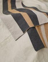 STRIPED SCARF in Neutral and Grey