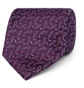 8.5cm Paisley Silk-Jacquard Tie in Purple