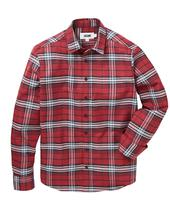 Jacamo Flannel Check Long Sleeve Shirt Regular in Red