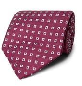 8.5cm Silk-Jacquard Tie in Red