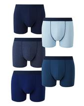Pack of 5 Hipsters in Navy and Blue