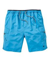 Azure Blue Long Swimshorts in Blue