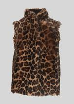 Toscana Animal Sheepskin Gilet in Brown