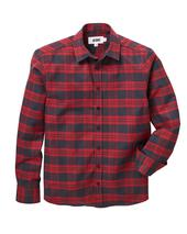 Jacamo Flannel Check Long Sleeve Shirt Regular in Red and Black