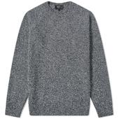 A.P.C. Pablo Lambswool Crew Knit in Navy