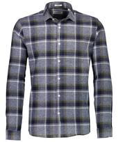 Checked Flannel Long Sleeved Shirt in Grey