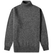 Jamieson's of Shetland Roll Neck Knit in Grey