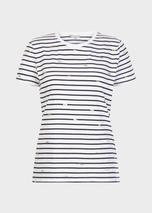 Pixie Cotton Printed T-Shirt in Navy