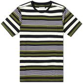 POP Trading Company Striped Pocket Tee in Multicoloured