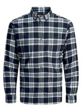 Button Down Twill Weave Shirt in Navy