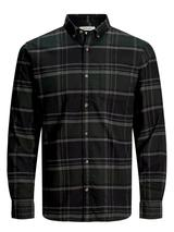 Button Down Twill Weave Shirt in Green