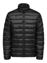Recycled Polyester Sustainable Puffer Jacket in Black
