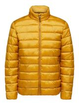 Recycled Polyester Sustainable Puffer Jacket in Yellow