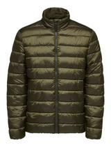 Recycled Polyester Sustainable Puffer Jacket in Green