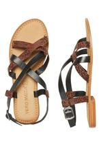 Sandals in Brown and Black