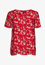 Print T-shirt in Red
