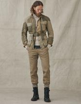 OFFICER CHINO SLIM TROUSERS in Neutral