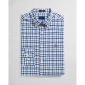 Regular Fit Micro Madras Oxford Shirt in Blue